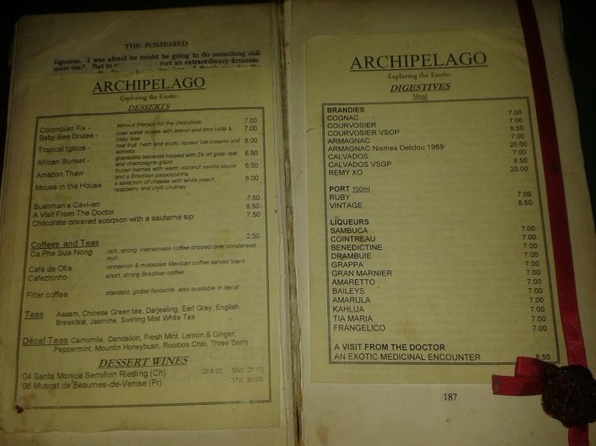 ARCH dessert menu 2